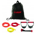 Lifeline USA Zestaw Gum Oporowych  Lifeline USA Variable Resistance Training Kit ELITE(81,65kg)