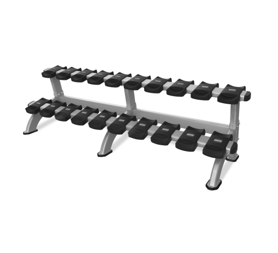 Nautilus INSPIRATION 2 TIER DUMBBELL RACK 10 PAIR