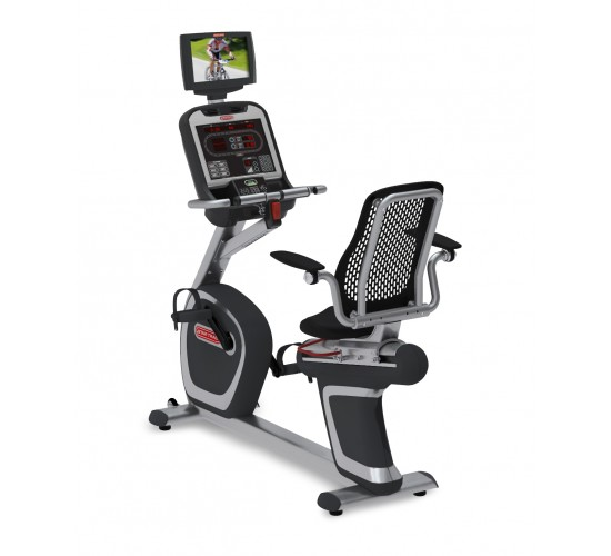 "Star-Trac E-RBi E-Series recumbent bike w/media center & 15"" screen"