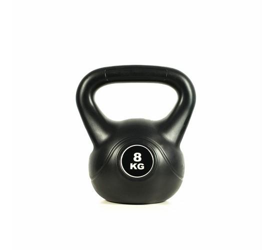 KETTLEBELL - EASY FITNESS (BLACK) 8 kg