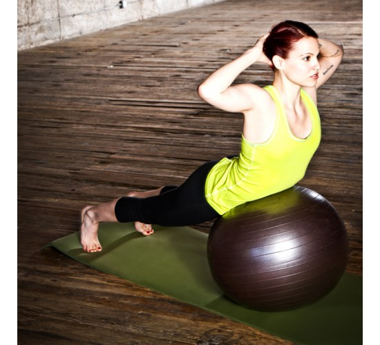 Natural Fitness Piłka do Jogi PRO Burst Resistant Exercise Ball- 55cm (śliwkowa)