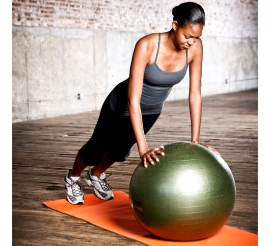 Natural Fitness Piłka do Jogi PRO Burst Resistant Exercise Ball- 65cm (oliwkowa)