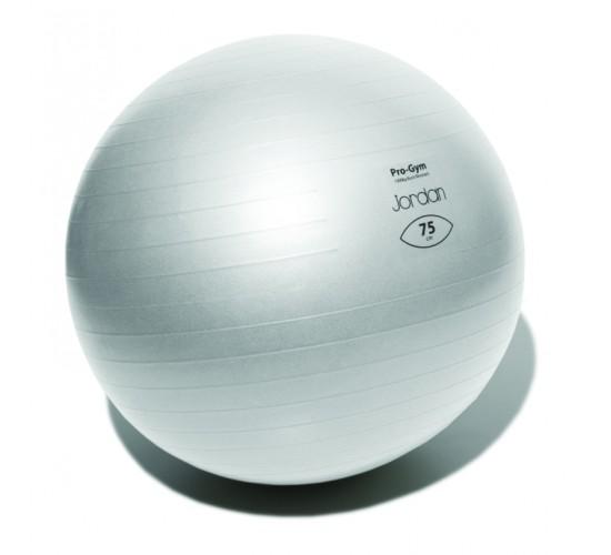 Jordan Profesjonalna Piłka do ćwiczeń FitBall 75cm (srebrna) + pompka