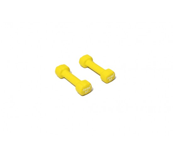 Jordan Ignite Hantle Neoprenowe Studio Fitness 0,5kg (para, żółte)