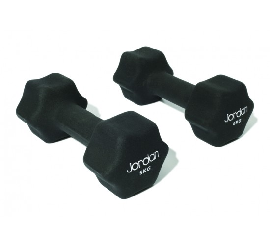 Jordan Hantle Neoprenowe Studio Fitness 5kg (para, czarne)