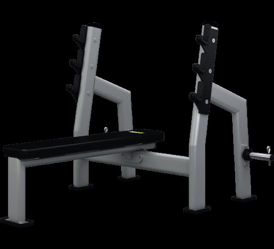 Mega Form Ławka pozioma do wyciskania ze stojakami (Bench Press)