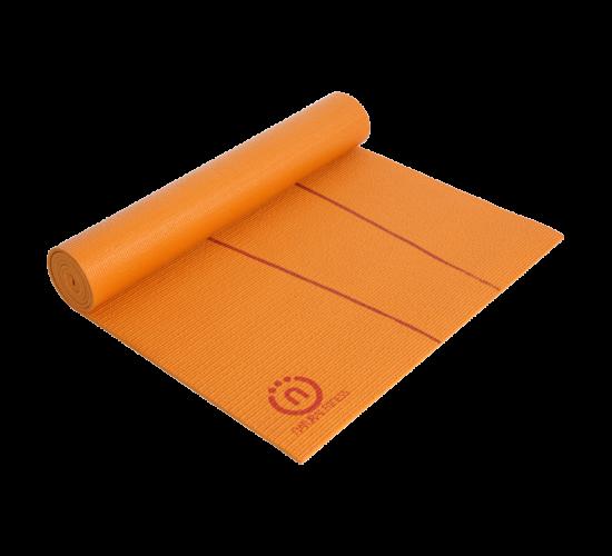 """Natural Fitness Mata do Jogi Eco-Smart -  24"""" x 69"""" x 6mm (pomarańczowo/czerwona)"""