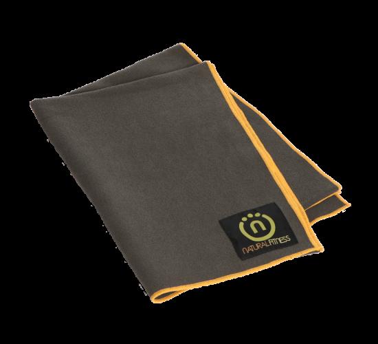 Natural Fitness Ręcznik do Jogi (czarno/pomarańczowy)