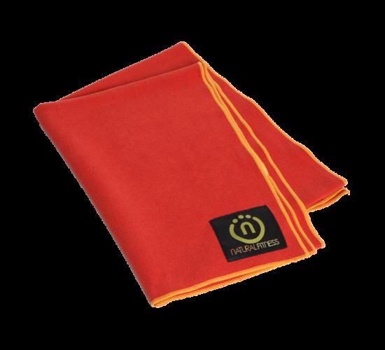 Natural Fitness Ręcznik do Jogi (czerwono/pomarańczowy)