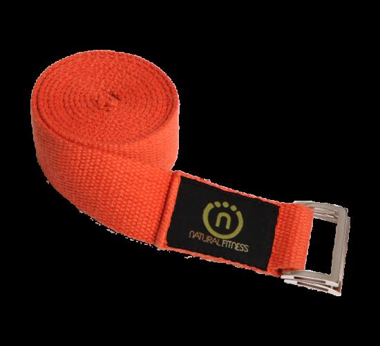 Natural Fitness Pasek do Jogi z Konopi 2,43m (pomarańczowy)