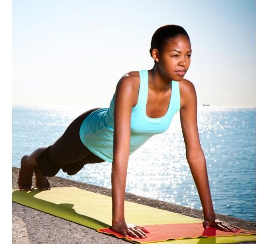 Natural Fitness Mały Ręcznik do Jogi (czerwono/pomarańczowy)