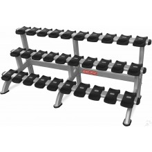 Star-Trac INSPIRATION  3 TIER DUMBBELL RACK 15 PAIR