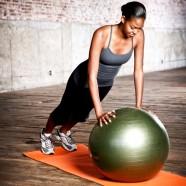 Natural Fitness Piłka do Jogi PRO Burst Resistant Exercise Ball- 65cm (oliwkowa)